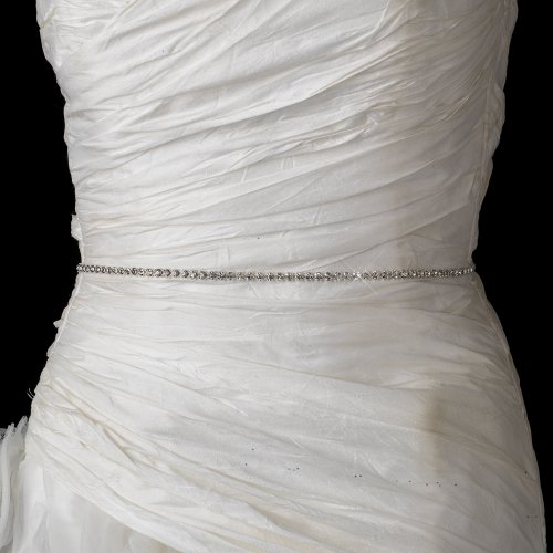 Raebella Weddings Decorative 1 Row Rhinestone Mesh Ribbon - 5 Yards Per Roll / Spool front-14324