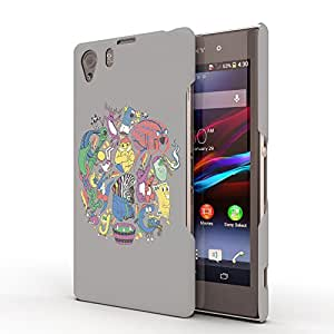 Koveru Designer Printed Protective Snap-On Durable Plastic Back Shell Case Cover for SONY XPERIA Z1 - Tangled