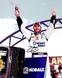 Buy AUTOGRAPHED 2010 Jimmie Johnson #48 Lowe's Racing (Chicagoland Win) VICTORY LANE 8x10 Photo by Trackside Autographs
