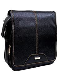 "10"" Stylish Faux Leather I-Pad Sleeve Messenger Office Bag With Shoulder Strap By-Widnes"