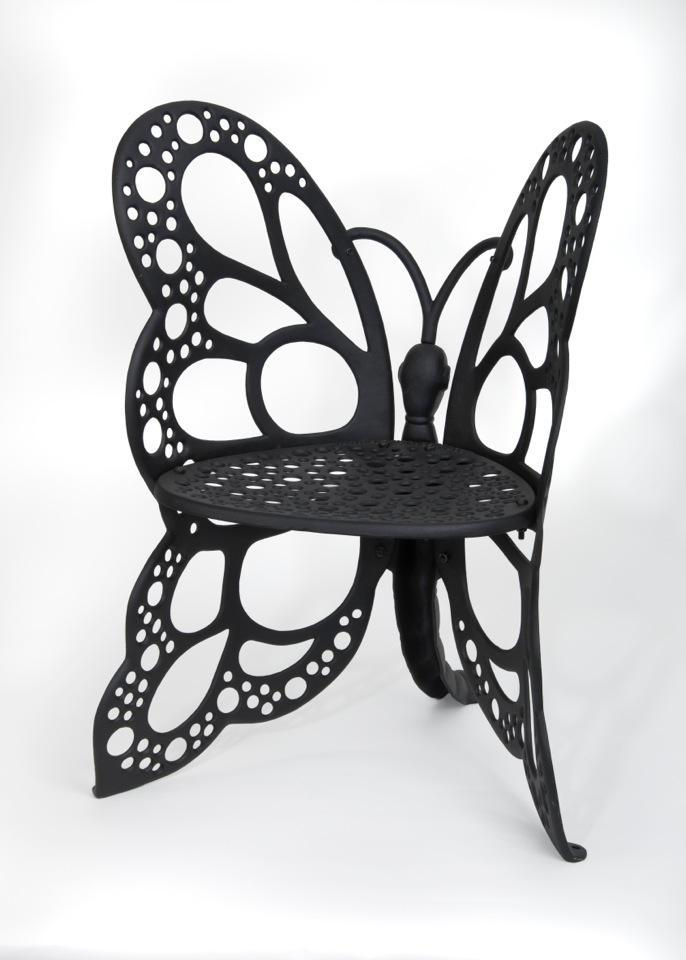 Amazon Com Flower House Fhbc205 Butterfly Chair Black