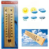 Supagarden-Indoor-Outdoor Greenhouse Wooden Thermometer /Poultry Chickens/Brooder