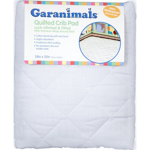 "Garanimals - Quilted Fitted Crib Pad 28""x52"" - 1"