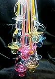 """24 Pcs 2-1/2"""" Mix Colors Plastic Pacifier Necklaces Baby Shower Party Game Favors"""