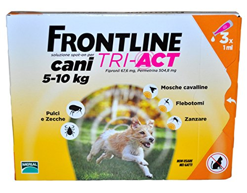 FRONTLINE TRI ACT 5-10 Kg - Antiparassitario per cani di piccola taglia