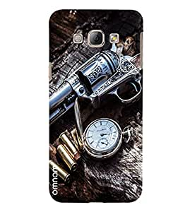 Omnam Gun With Bullets And Watch Printed Designer Back Cover Case For Samsung Galaxy A8