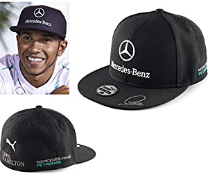 Puma mercedes amg petronas f1 2014 black flat for Mercedes benz caps hats