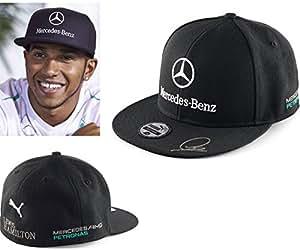 Amazon.com: Puma Mercedes AMG Petronas F1 2014 Black Flat Brim Lewis