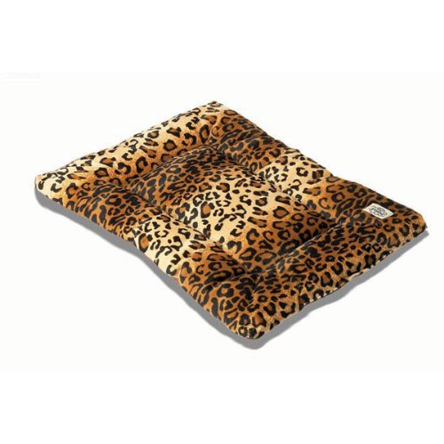 Pet Dreams Plush Sleep-Eez Reversible 24 By 18-Inch Pet Bed, Small, Leopard front-901724