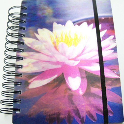 idimension-3d-spiral-notebook-or-journal-lily-pads-in-bloom-300-pages-elastic-closure-by-idimension
