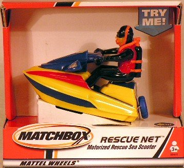Matchbox Rescue Net Motorized Rescue Sea Scooter - 1