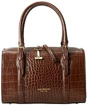 Isaac Mizrahi Alice IM92187 Top Handle Bag,Chocolate,One Size