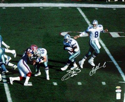 529db04d0 Emmitt Smith   Troy Aikman Dallas Cowboys NFL Hand Signed 16x20 Photograph  Hand Off vs Buffalo