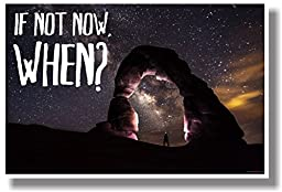 If Not Now, When? - NEW Motivational Poster