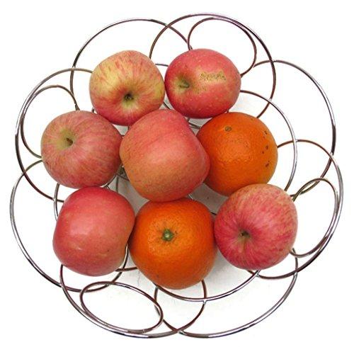 TBQING Couvercles pomme compote fruits panier inox fruits plaque mode créatif salon rond panier métallique