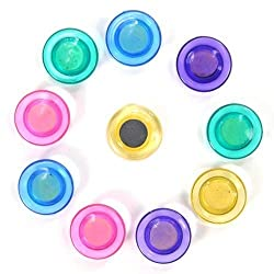 Zrh Set Of 10 Colorful Translucent 30 Mm Magnet Buttons - For Fridge, Magnetic White-Boards