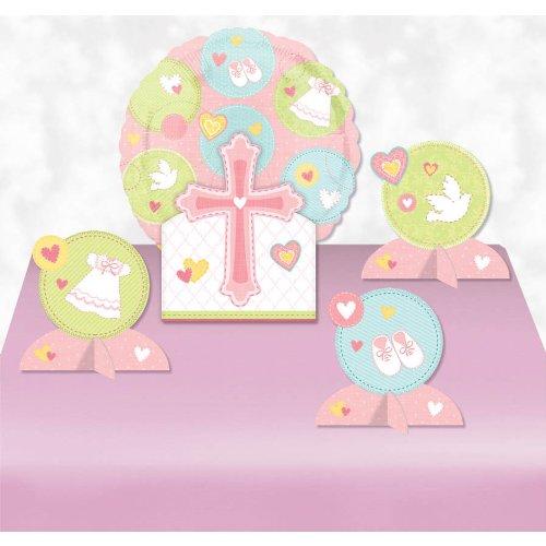 Sweet Christening Pink Balloon Centerpiece- 5pc