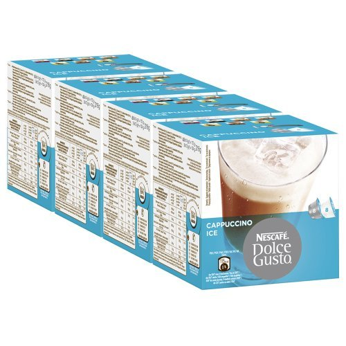 Buy Nescafé Dolce Gusto Cappuccino Ice, Pack of 4, 4 x 16 Capsules (32 Servings) from Nestlé