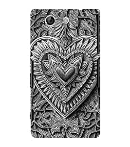 Decorative Heart Design 3D Hard Polycarbonate Designer Back Case Cover for Sony Xperia Z4 Mini :: Sony Xperia Z4 Compact