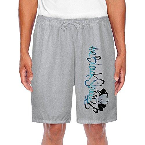 GLK300 Funny Good Black Short Sweatpants For Mens Size 3X Ash