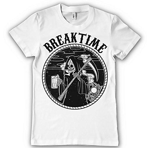 Laugh Dusk Breaktime Grim Reaper The Destroyer Angel Death Mens T-shirt White XXX-Large