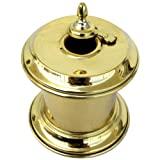 Solid Brass Captain's Writing Pen Inkwell with Moving Swivel Lid