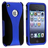 Snap-on Case compatible with Apple iPhone 3G / 3GS, Dark Blue / Black Cup Shape