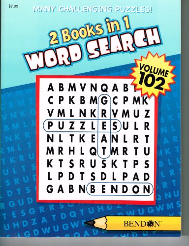 2 Books in 1 Word Search Puzzle Book (Volume 102)