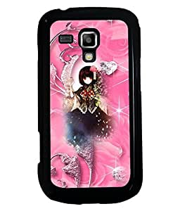 PRINTVISA Black Beuty Premium Metallic Insert Back Case Cover for Samsung Galaxy S Duos S7562 - D5804