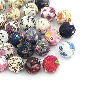 Housweety 30 Mix Blumen Muster Perlen Kugel Beads 14mm D.