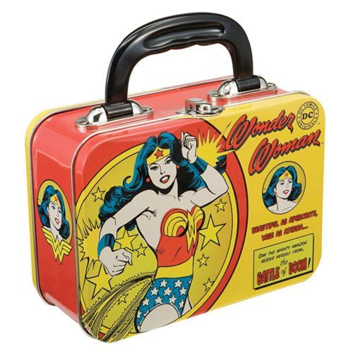 Vandor 75270 Wonder Woman Small Tin Tote, Multicolored