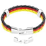 Taffstyle® Stylisches Armband PU Lederarmband Kordelarmband Fanartikel Fussball Weltmeisterschaft 2014 WM & EM Länder Style gefl