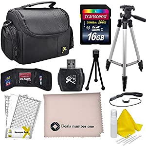 Professional Accessory Bundle Kit For all Canon and Nikon Cameras, 9 Compact Accessories