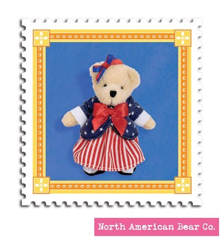 51LgwLwEIpL Cheap Buy  Muffy Bear Red, White & Blue Charm by North American Bear Co. (5907)