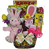 GreatArrivals Gift Baskets Hoppin Fun Girl Child s Easter Basket, 2 Pound