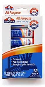 Elmer's All-Purpose  Glue Sticks, .77 oz,  12 Pack (E517)