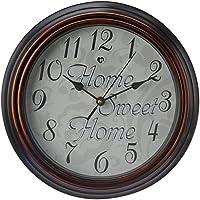 Archies Round Glass Wall Clock (30 Cm X 5.5 Cm X 30 Cm, White)