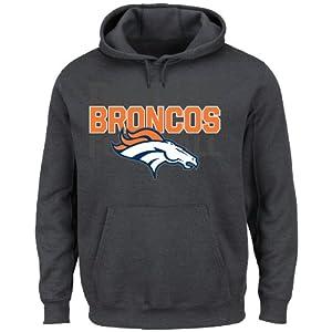 NFL Denver Broncos Men's 1st and Goal VI Fleece, Charcoal, Large