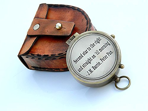 second-star-to-the-right-j-m-barrie-peter-pan-engraved-brass-compass-with-leather-case