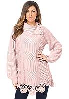 Roamans Women's Plus Size Cable Sweater