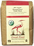 Great River Organic Milling 100% Organic Bread Flour Whole Wheat, 5 Pound Bags (Pack of 4)