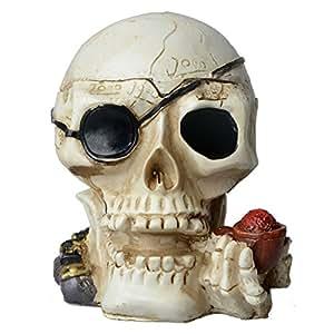 CT-104 Skull Design Ashtray White