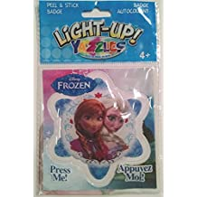 Yazzles Light Up Frozen - Anna And Elsa - Peel & Stick Badge