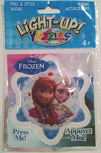 Yazzles Light Up Frozen - Anna and Elsa - Peel & Stick Badge - 1