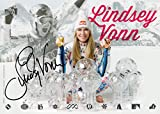 LINDSEY VONN HAND SIGNED 5x7 COLOR PHOTO+COA GORGEOUS+SEXY OLYMPIC SKIIER