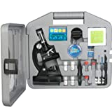 AmScope M30-ABS-KT2 Beginner Microscope Kit, LED and Mirror Illumination, 300X, 600x, and 1200x Magnification, Includes 49-Piece Accessory Set and Case, Black