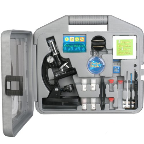 AMSCOPE-KIDS-M30-ABS-KT2-Starter-Microscope-Kit-Metal-Frame-120X-240X-300X-480X-600X-and-1200X-Magnifications-2-Eyepieces-and-49-Accessories-and-Case