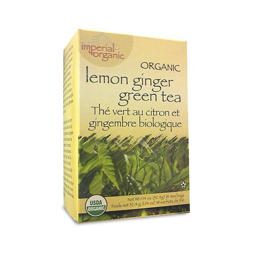 Uncle Lees Tea Imperial Organic Lemon Ginger Green Tea 18 Tea Bags