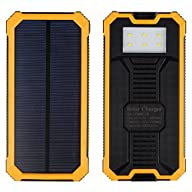 Bienna 30000mAh Solar Chargers External Battery Pack and Solar Power Bank,Dual USB Port Portable…