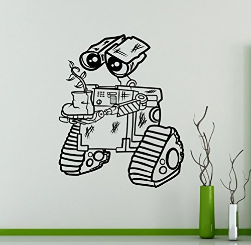 Vinyl Sticker for Wall WALL-E Decal Disney Cartoons Robots Home Decor Ideas Interior Removable Kids Room Wall Art 6(wle) (Personalized Wall Decal Robot compare prices)